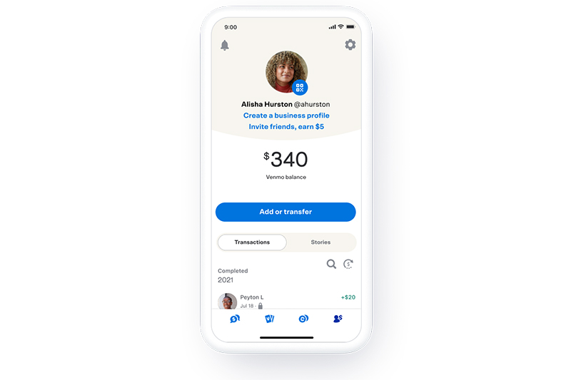 Updated Venmo personal feed