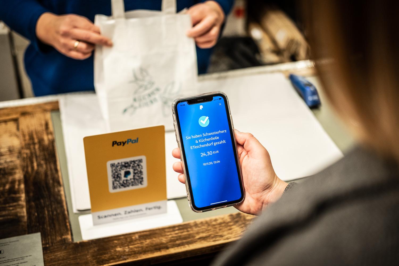 Bezahlvorgang QR-Code PayPal