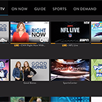 The Cloud DVR screen on SLING TV's interface