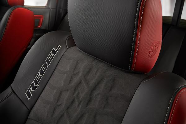 Ram® Rebel® with Toyo® Open Country® A/T II style tread on seats