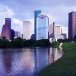 View of downtown Houston buildings