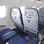 Image of rear view of CRJ700 United Economy seats