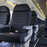 Image of CRJ700 United First seats