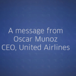 A message from United Airlines CEO, Oscar Munoz, regarding policy changes