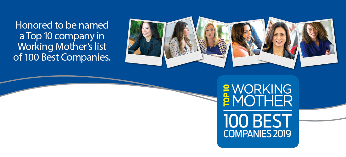 Astellas ranks in Top 10 of Working Mother Best Companies list