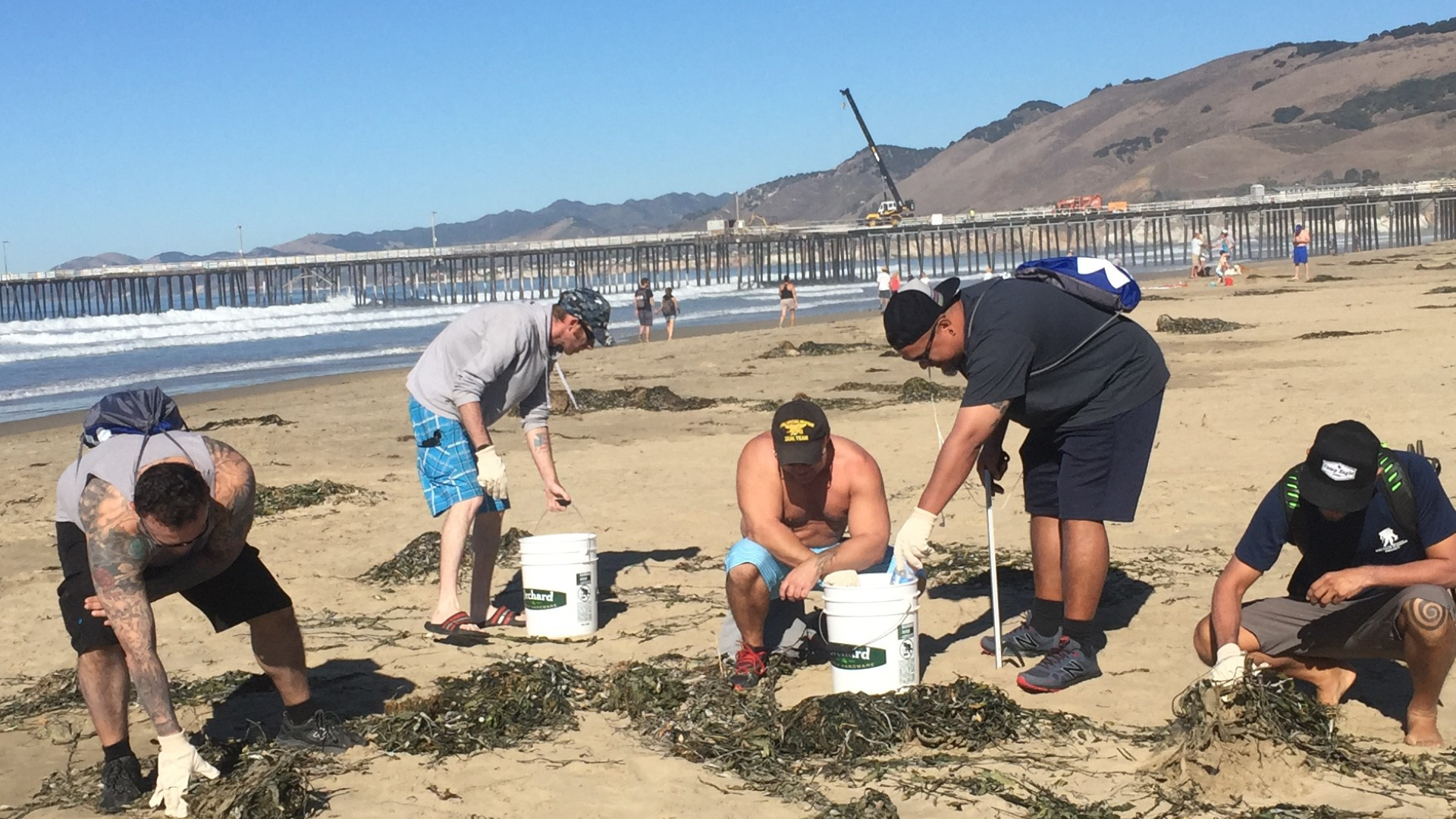 Beach Clean Up: Male Mental Health Workshop: San Luis Obispo, CA