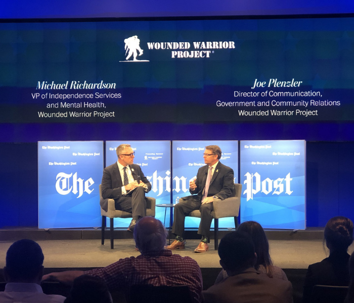 Wounded Warrior Project® sharing thoughts on PTSD and TBI to during Washington Post Live.
