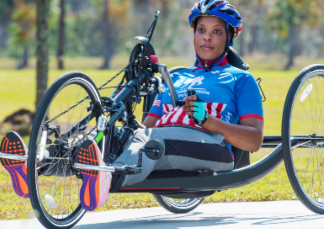 Warrior Sharona Young stays active and grateful through adaptive sports, including handcycling.
