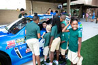 Meeting Street Academy get an up-close look at Kyle Larson in his NASCAR car