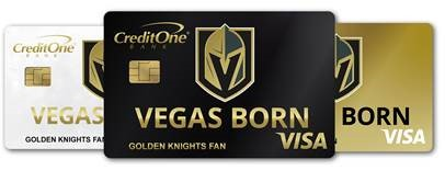 Vegas Born Credit Card, Official Credit Card of the Vegas Golden Knights