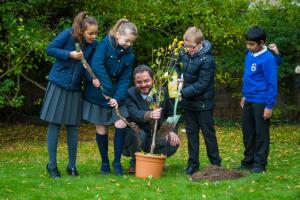 WPD participates in tree planting